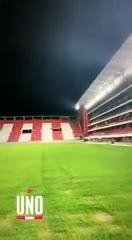 La prueba de luces del Estadio de Estudiantes