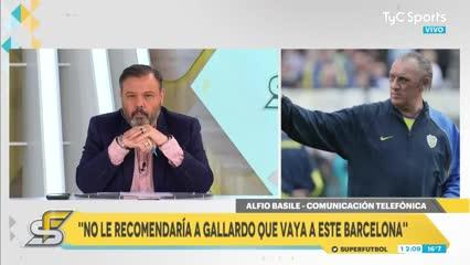 Basile habló sobre el rumor de Gallardo y Barcelona