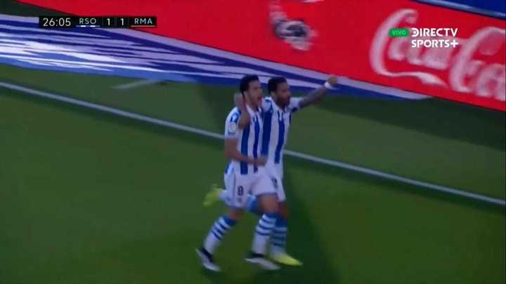 Mikel Merino empató el partido para la Real Sociedad