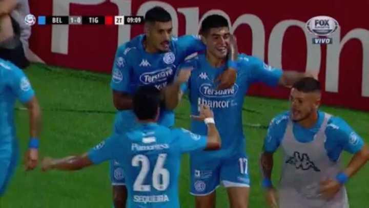 Juan Brunetta marcó el primero de Belgrano