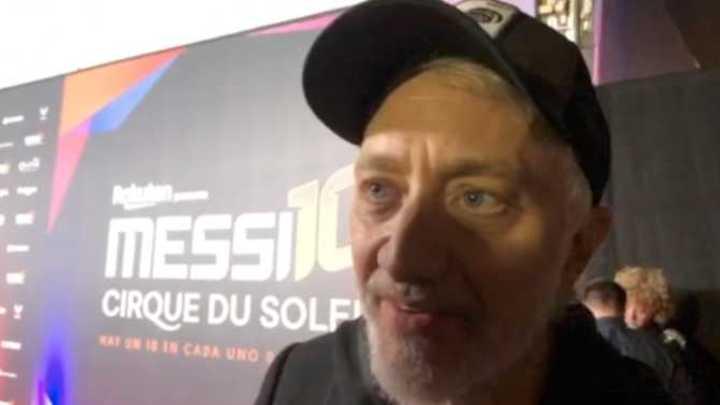 Andy Kusnetzoff en el Messi 10 del Cirque du Soleil