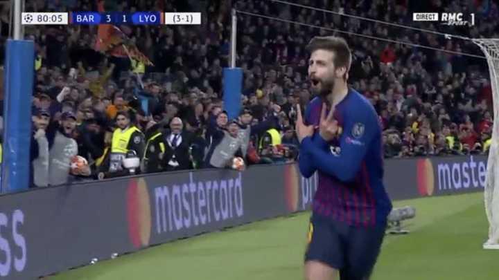 Piqué convirtió con asistencia de Messi