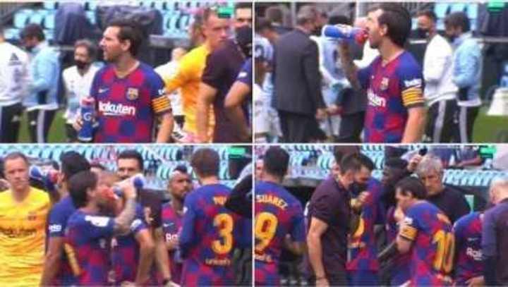 ¿Messi y un cortocircuito con el ayudante de Setién?