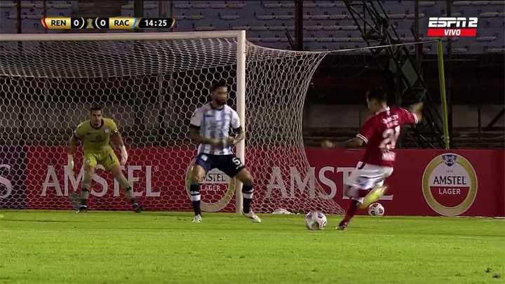 Tremendo remate de Pérez