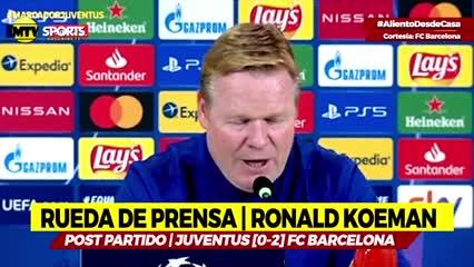 Koeman sobre Messi tras el 2-0 contra Juventus