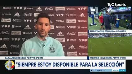 """Messi: """"Voy a seguir intentado conseguir un título con la Selección"""""""