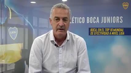 Alfaro hizo un balance del semestre de Boca