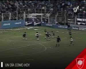 El primer gol de Ortega con la camiseta de River
