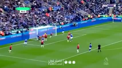 Daka bajó la persiana: 4-2 para Leicester vs Manchester United