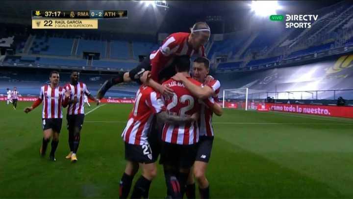 Atlético de Bilbao venció 2 a 1 al Madrid