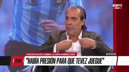 Batista habló de los problema de Tevez en la Selección