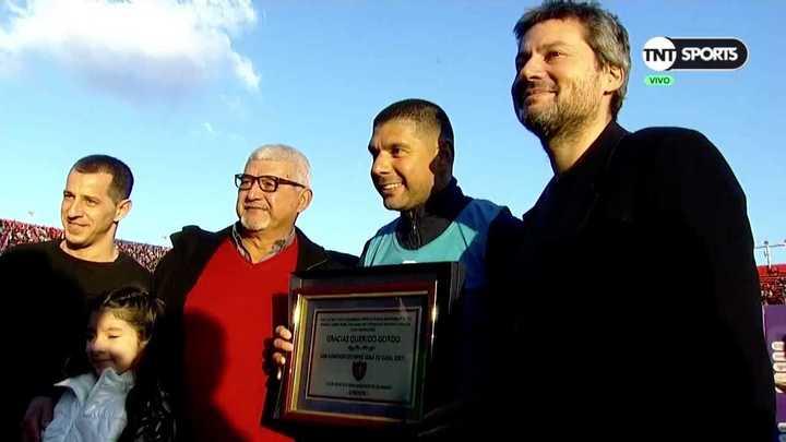 El reconocimiento de San Lorenzo para Ortigoza