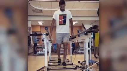 Delpo ya empezó a rehabilitar su rodilla