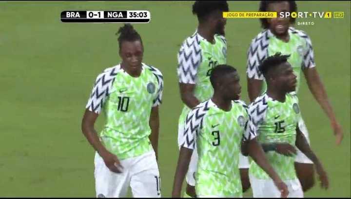 Brasil empató con Nigeria 1 a 1