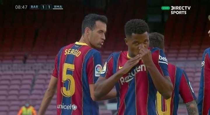 Ansu Fati lo empató para el Barcelona
