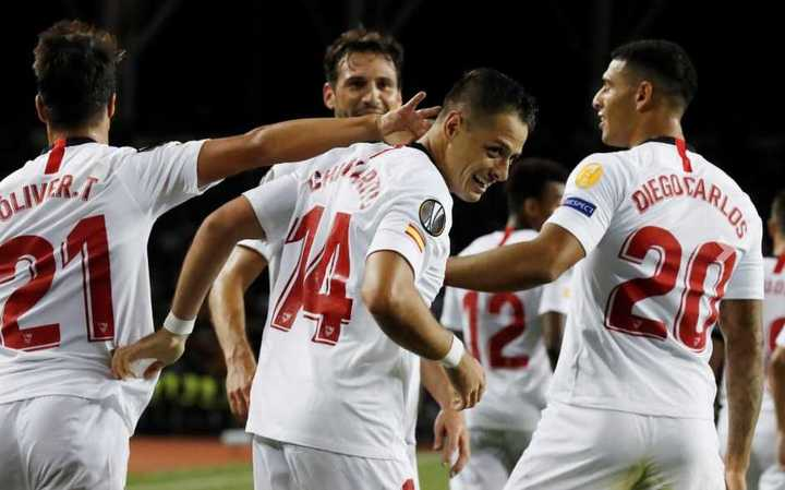 Los goles del Sevilla ante Qarabag