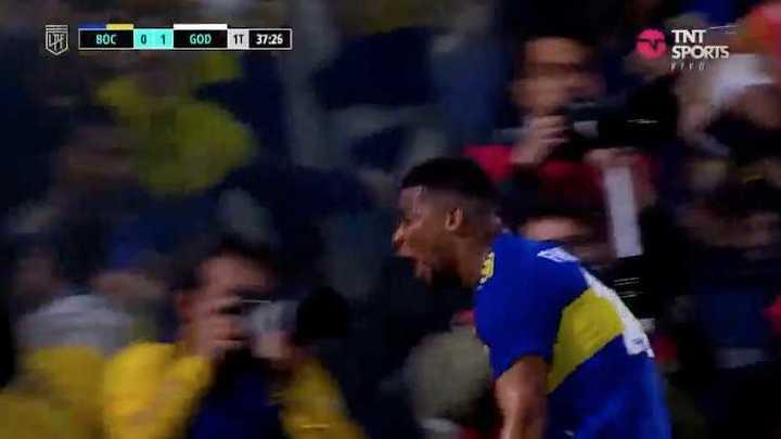 Fabra le dio el empate a Boca