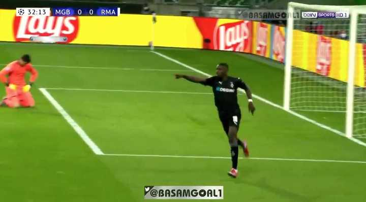 Borussia Monchengladbach se puso arriba ante Real Madrid