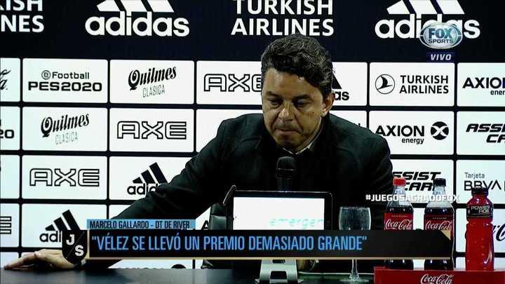 """Gallardo: """"No somos capaces de tener un fútbol en paz"""""""