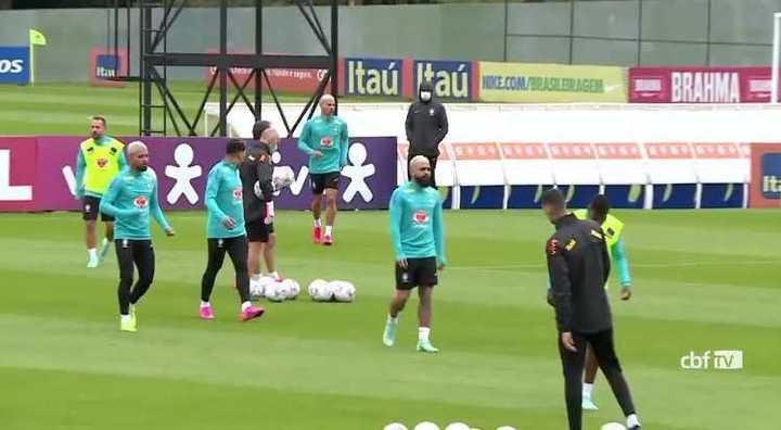 El entrenamiento abierto de la selección de Brasil