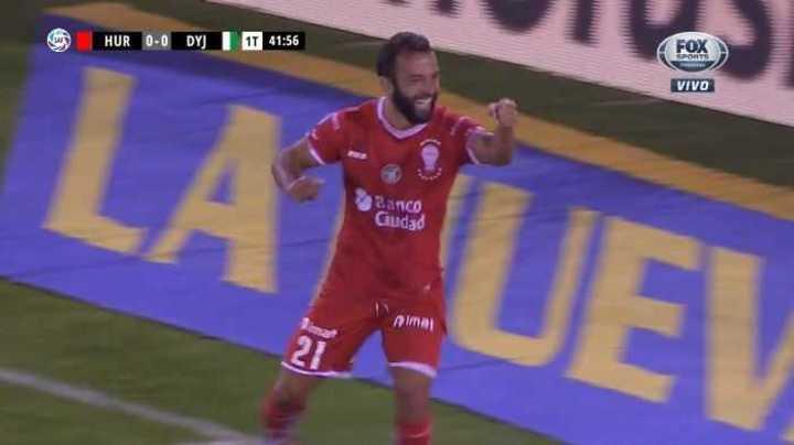 Gamba marcó el 1 a 0 de Huracán