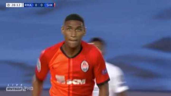 Teté marcó el 1 a 0 de Shakhtar