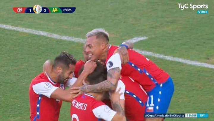 Brereton marcó el 1 a 0 de Chile