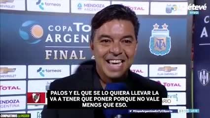 """Marcelo Gallardo: """"Nacho Fernández no se va a ningún lado"""""""