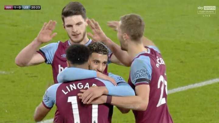 West Ham le ganó 2 a 0 a Leeds