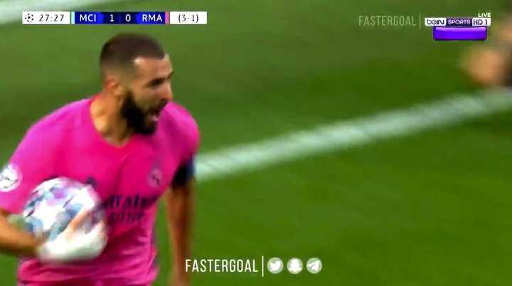 Benzema empató para el Real Madrid