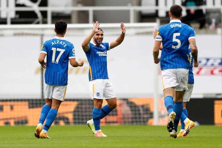 Maupay y el 2-0 del Brighton ante Newcastle en 8'