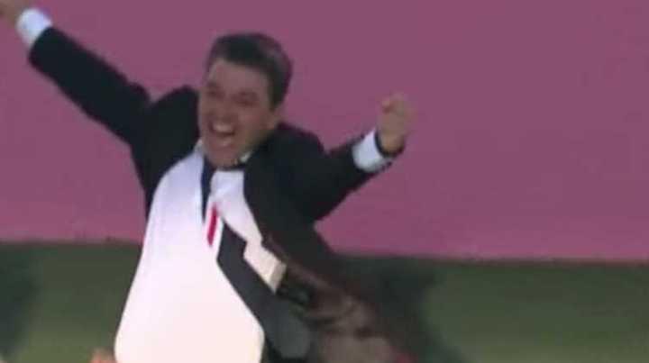 Las reacciones de Gallardo en los dos goles de River