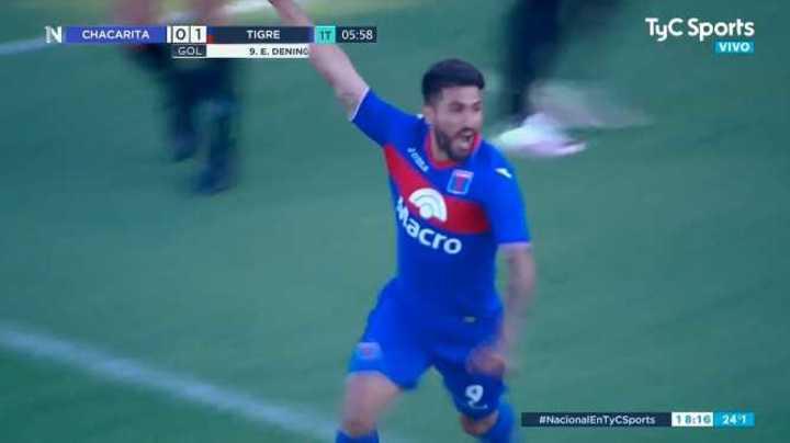 Dening puso el 1 a 0 de Tigre frente a Chacarita