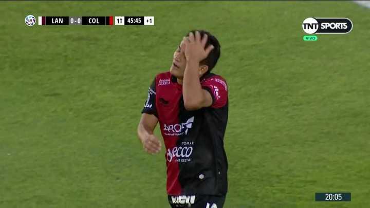 Pasó cerca el tiro libre de Rodríguez