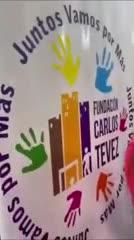 Tevez saludó a los chicos de su Fundación
