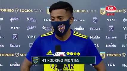 """""""Esto es soñado"""", dijo Rodrigo Montes"""