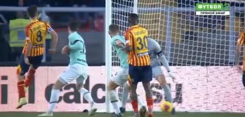 Marco Mancuso puso el 1 a 1 de Lecce ante Inter