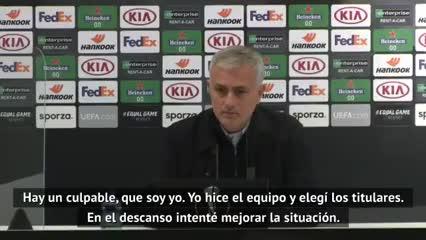 Mourinho se enojó por el rendimiento de sus jugadores