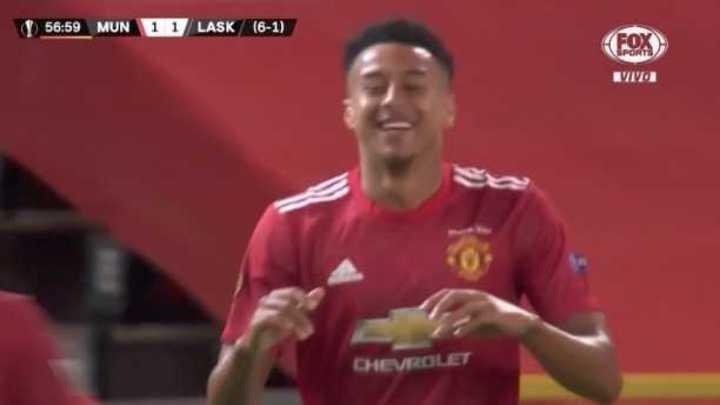 Lingard lo empató para el United