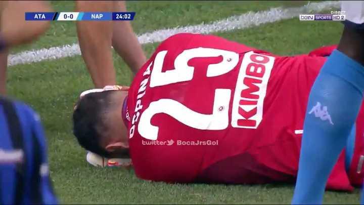 Ospina se retiró sangrando y en camilla