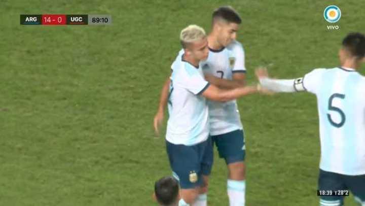 Argentina le ganó 14 a 0 a Islas Canarias