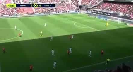Rennes reinició el segundo tiempo y le clavó el 2-0 al PSG