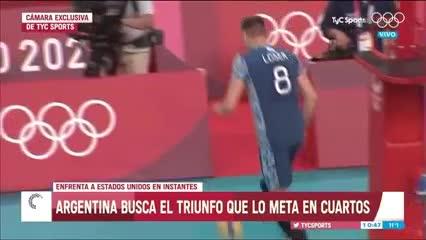La singular entrada en calor de la Selección Argentina de vóley