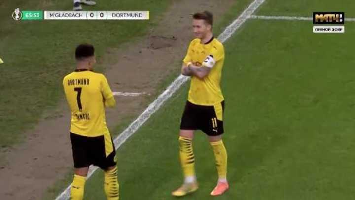 El gol del Sancho en el 1 a 0 del Dortmund al Monchengladbach