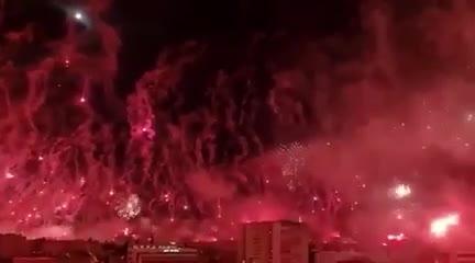 El impactante festejo de los ultras croatas