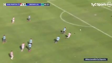 Los goles de San Martín (T) 2 - Brown (A) 0