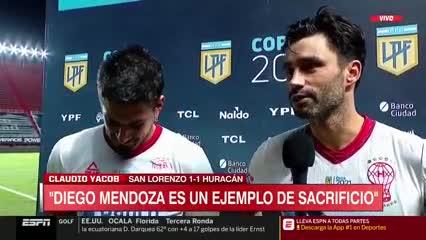 Yacob y un lindo mensaje a Mendoza