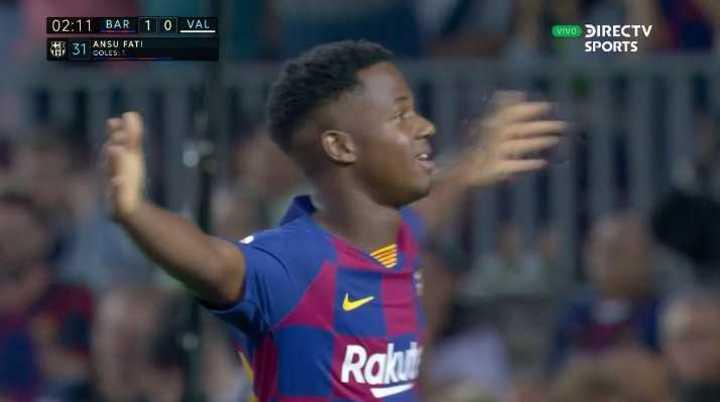 Ansu Fati marcó el primero de Barcelona