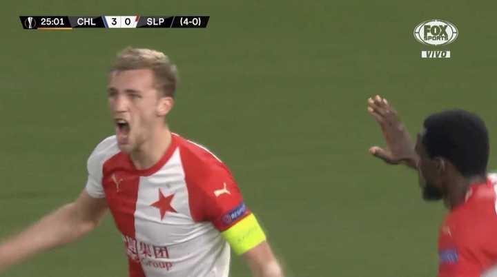 El Slavia Praga descontó en el marcador