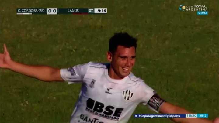 El golazo de Cristian Vega para Central Córdoba